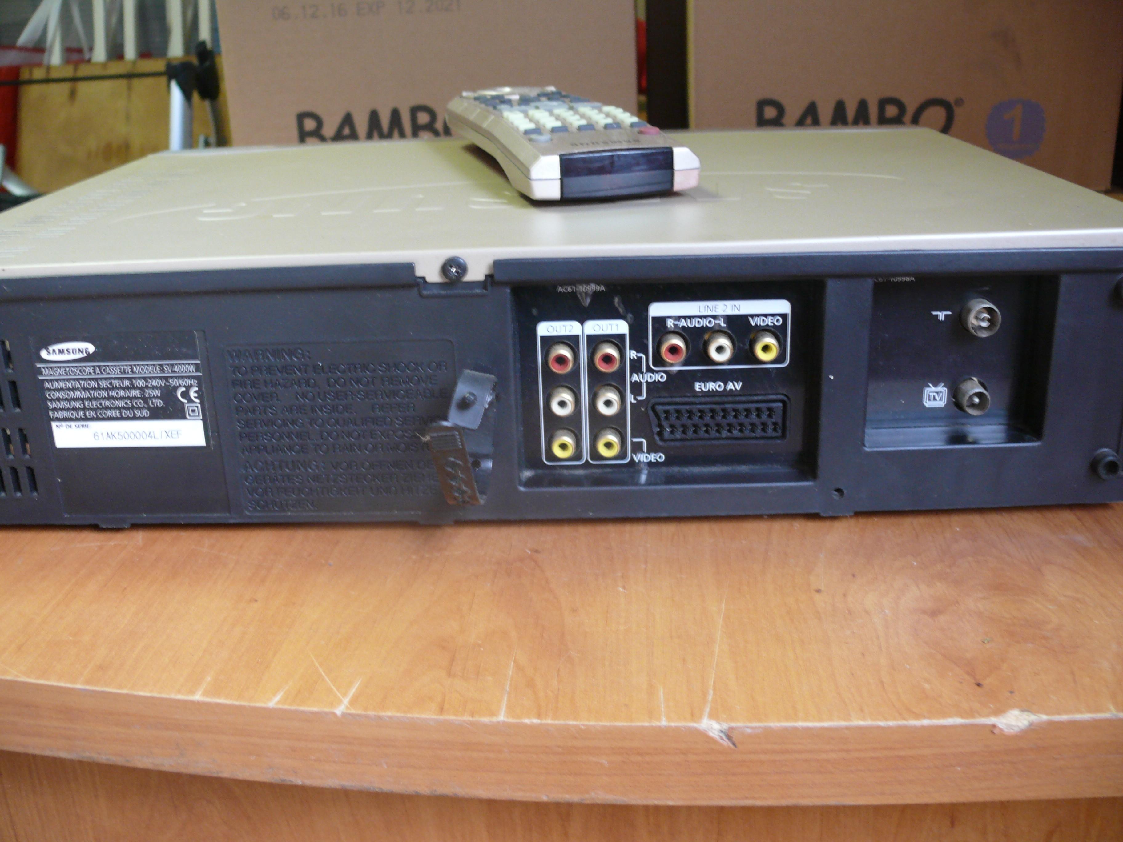 Samsung sv-4000w Magnétoscope VHS multiformat