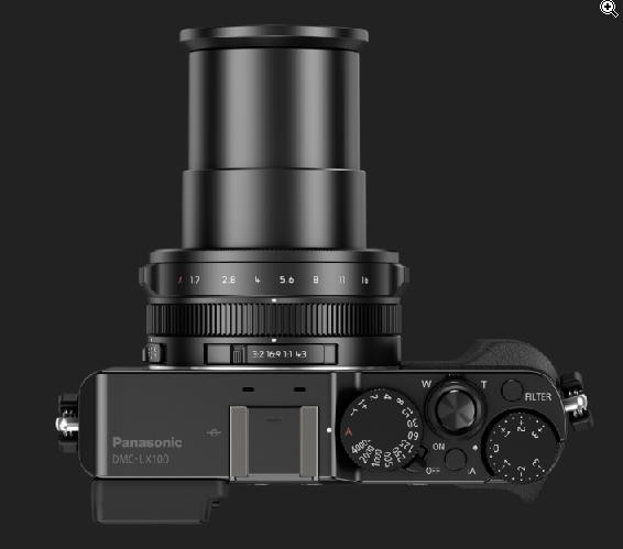 Panasonic Lunix DMC-LX100-dessus-zoom-depoyé
