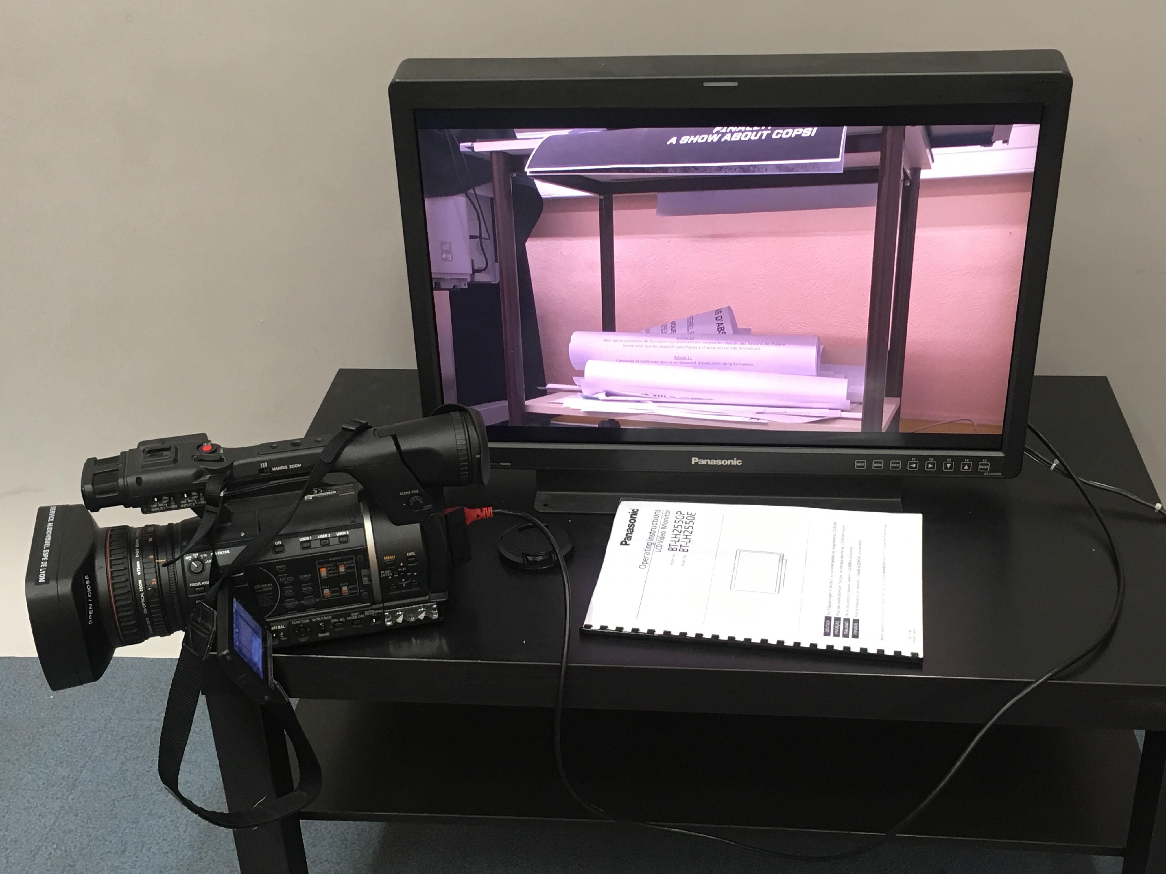 Moniteur LCD Panasonic 25 pouces Full HD, HD-SDI, DVI-D, YUV + Vecteurscope