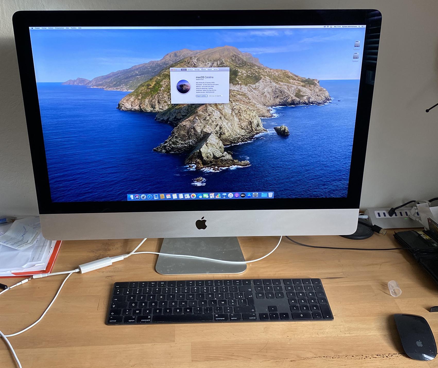 Vends iMac 5K 27 Pouces 2019