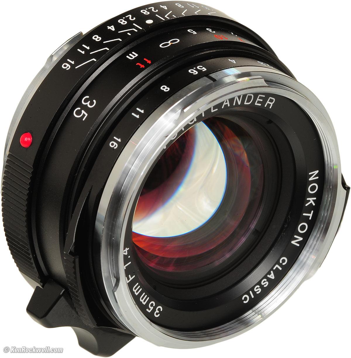 Objectif voigtlander 35mm 1.4 nokton + adaptateur SONY