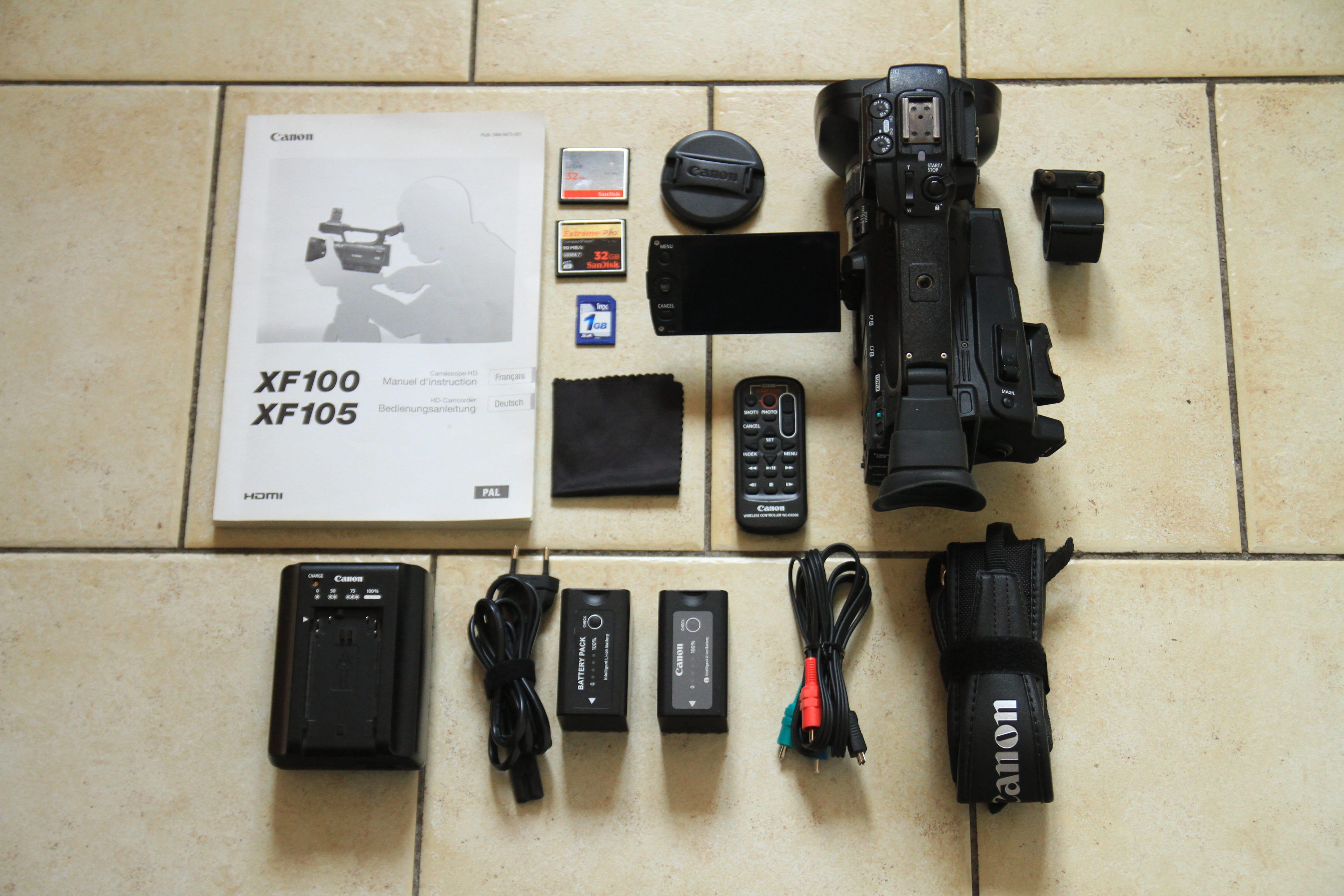 Camescope CANON XF 100 + Accessoires