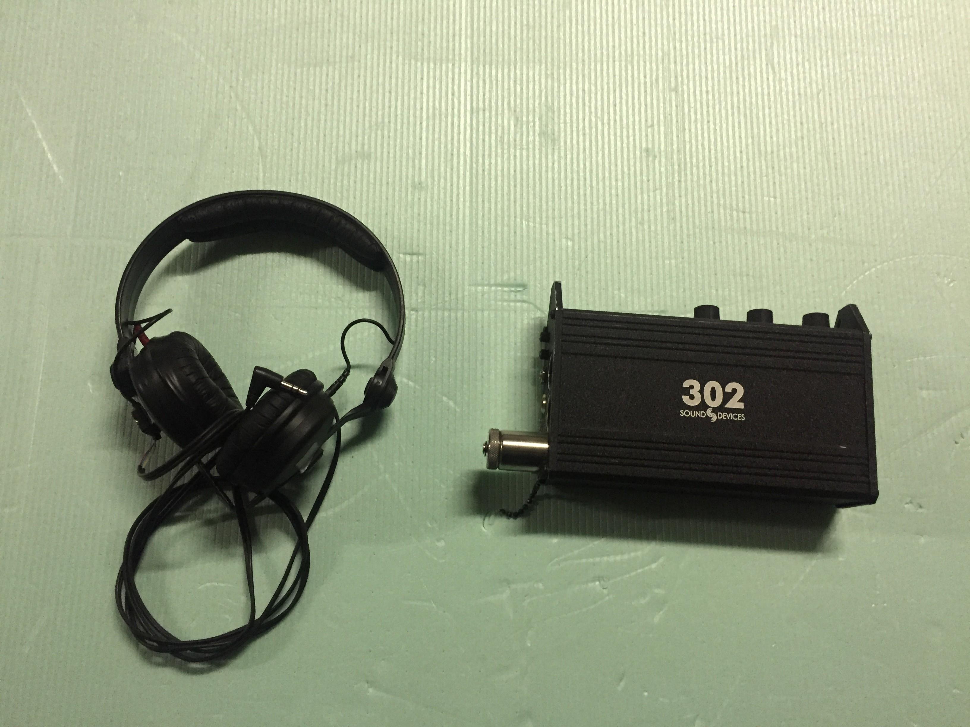 MIXETTE enregistrement 302 SOUND DEVICE avec casque  SENNHEISER