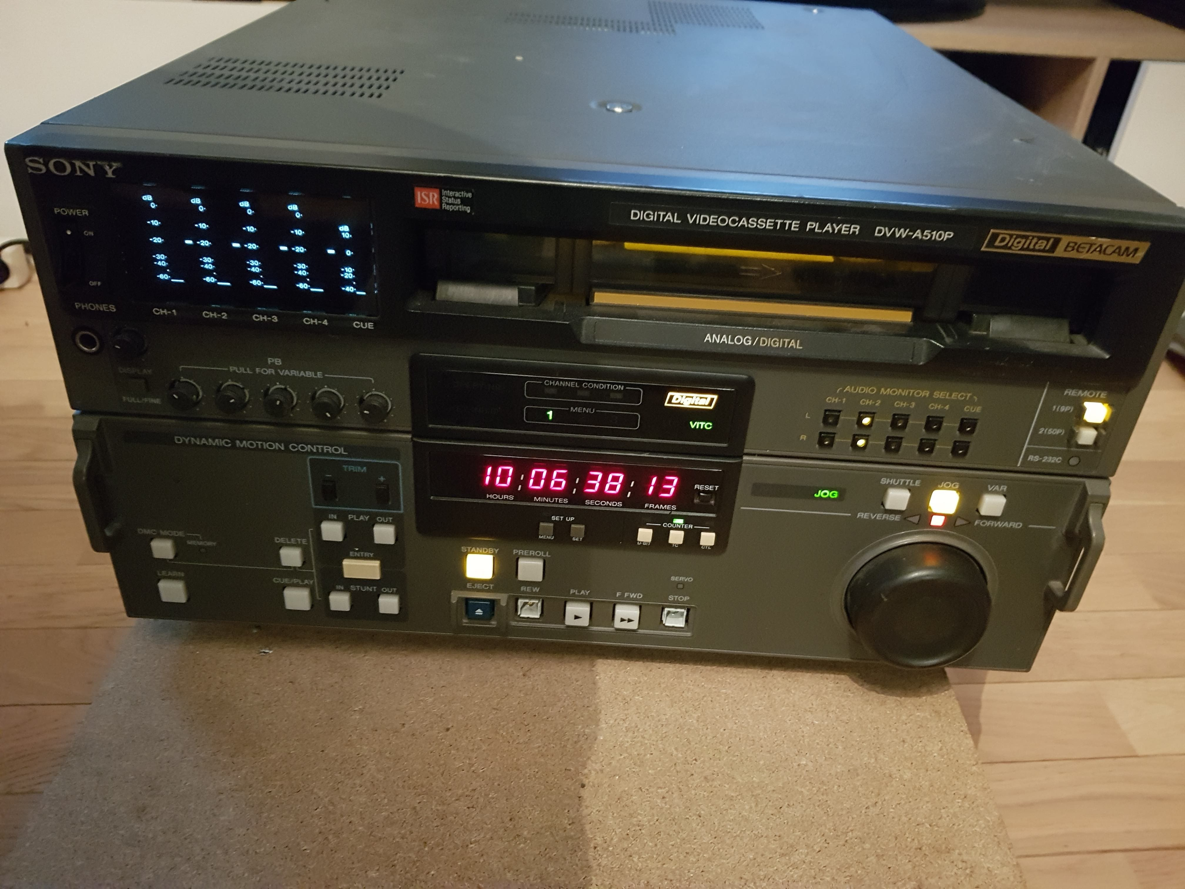 DIGITAL BETACAM SONY DVW-510P PLAYER