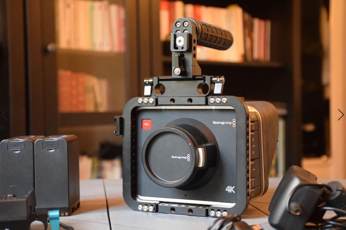 Caméra Blackmagic 4K équipée