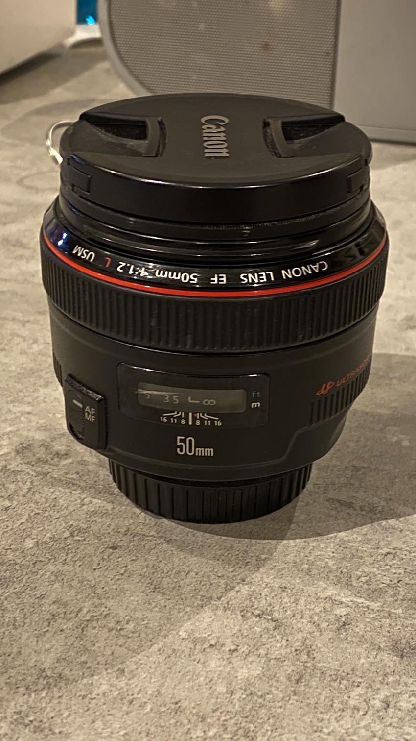 Vends objectif Canon 50mm F1.2 L USM