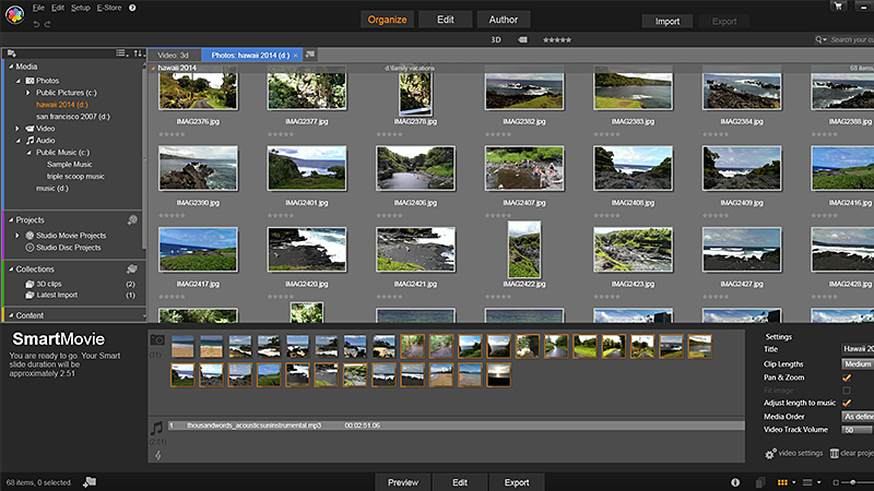 Pinnacle Studio 18 - montage HD