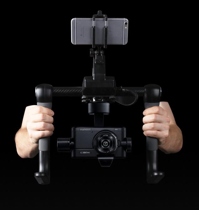 Stabilisateur Gimbal 3 axes avec caméra Proaction Yuneec CG04 (Panasonic GH4)