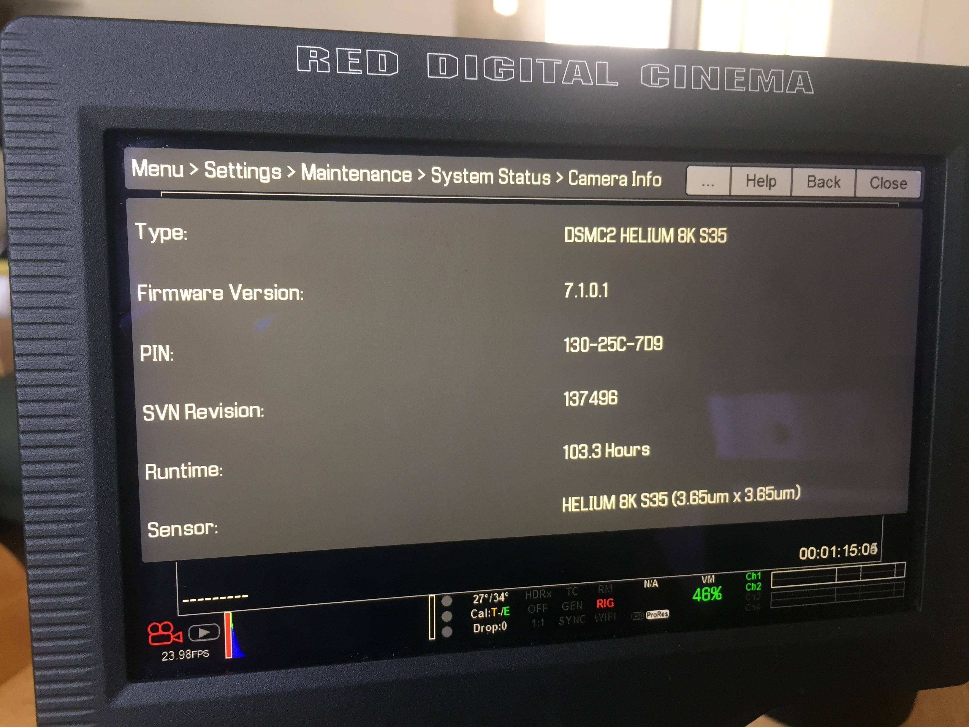 Kit Camera RED DSMC2 HELIUM