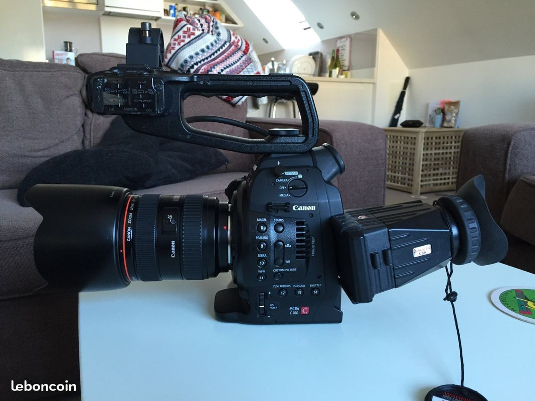 Canon C100 MI + Canon série L 24-105 F4