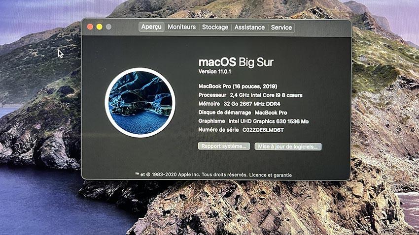 Vends MacBook Pro 16 Pouces haut de gamme gris sidéral