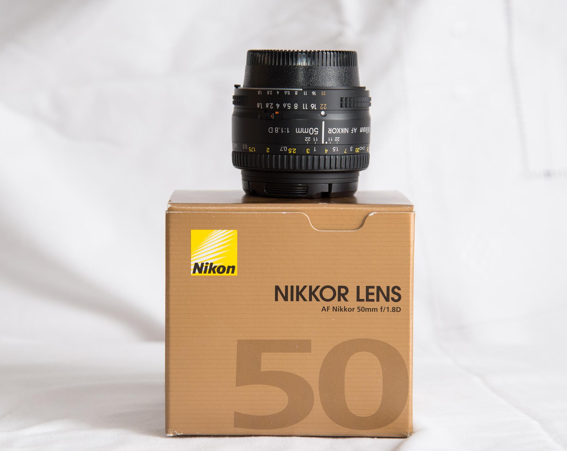 Objectif Nikon 50mm F1.8