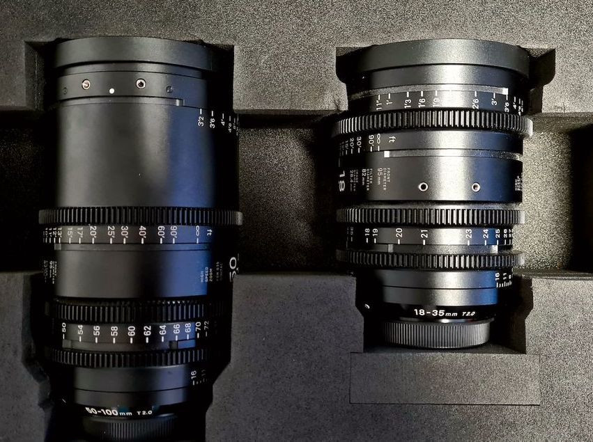 Sigma Cinema Line - Kit 18-35/50-100mm T2 EF (Pied) & valise PMC-001