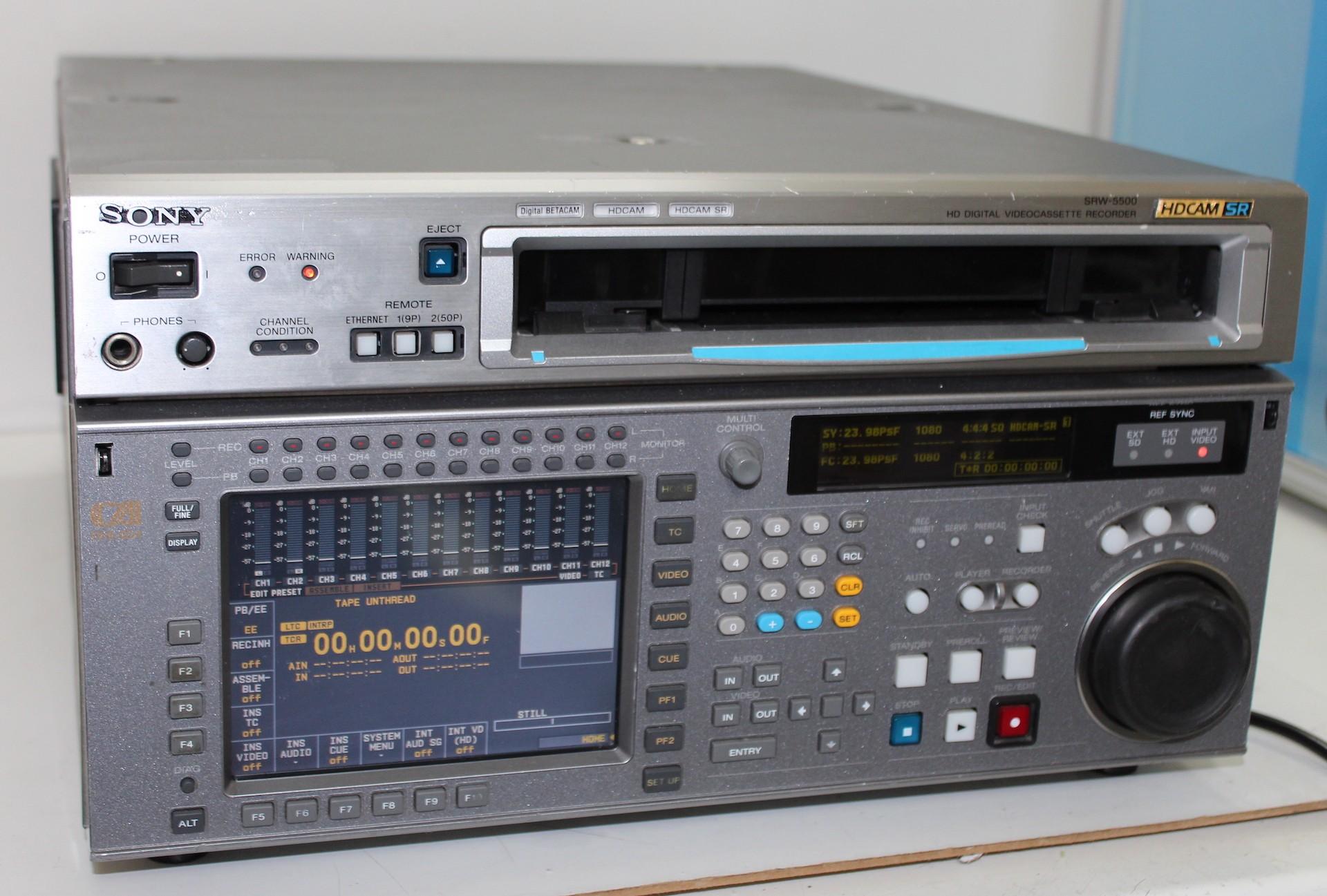 Magnetoscope HDCAM Sony SRW-5500 (parfait état)