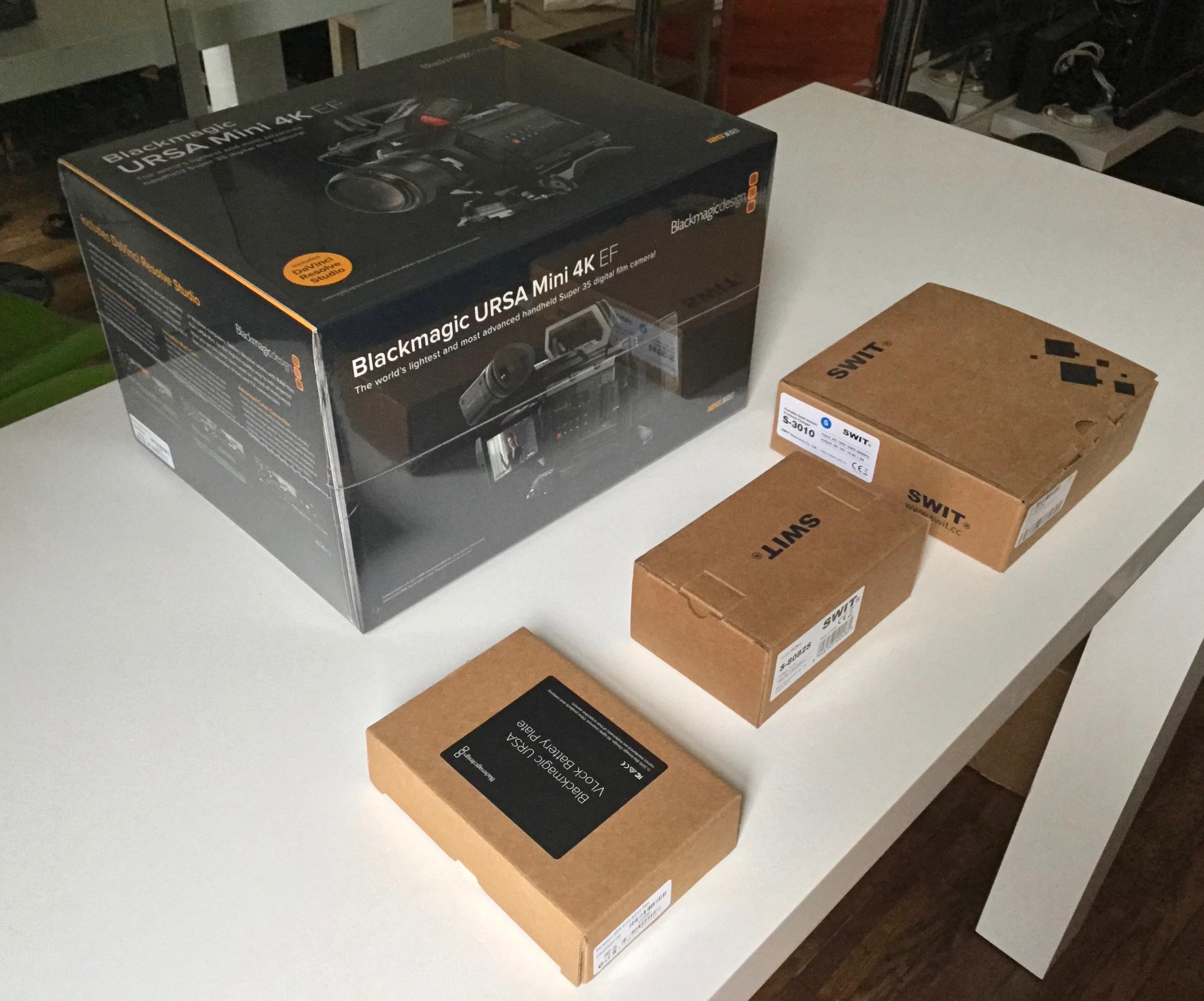 BLACKMAGIC URSA Mini 4K EF PACK - NEUF