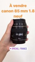 Vends Canon EF 85 mm f/1.8 USM neuf