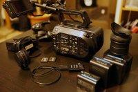 caméra Sony FS7 équipée + metabones speedbooster EF