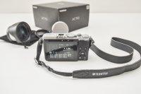 Fujifilm x70 silver + grand angle 21 mm wcl-x70