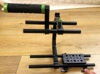 Support poignée Rod 15mm cage camera DSLR Hybride follow focus LANPARTE