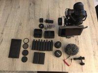 Caméra + accessoires + objectifs