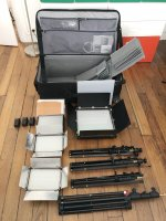 Kit éclairage studio LED professionel complet TBE + Valise de transport Think Tank