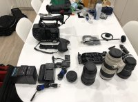 PACK SONY FS7 + Objectifs Canon + Metabonnes + accessoires
