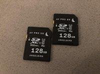 2x SD ANGELBIRD 128go V90