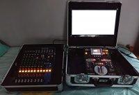 Régie video mobile Roland V4EX + Table mixage Yamaha MG12Xu