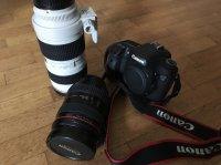 vends objectifs Canon EF 70-200/2,8 et EF 24-70/2,8 très peu servis, à négocier