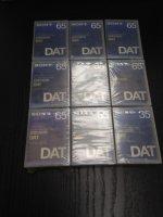 Lot de 9 Cassettes DAT Sony 65 min neuves