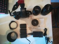 GH4 + 12-35 f2.8 + 35-100 f2.8 + Accessoires