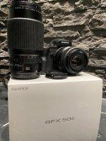 Fujifilm GFX 50s + GF 63mm 2.8 + GF 120mm macro 4.0