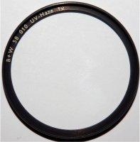 Filtre UV B+W UV HAZE (010) - clair - 58 mm