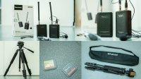 Micro HF Saramonic, Trépied et Cartes CF (dispo séparément)
