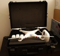 drone DJI Phantom 2 - Zenmuse HD3-3D - Gopro 4 Black édition - Moniteur HF - 4 batteries - Flightcase