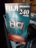 Pack cassette VHS 4H FUJI neuves